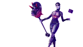 Fortnite Dark Bomber Skin with Cube in her Hands PNG