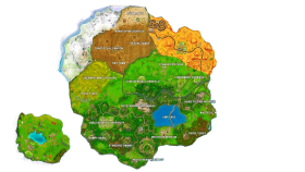 Fortnite New Season 7 Map PNG