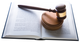Gavel Hammer on Book PNG