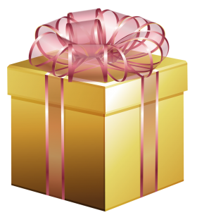 Golden Gift Box PNG