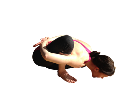 Girl doing Yoga PNG