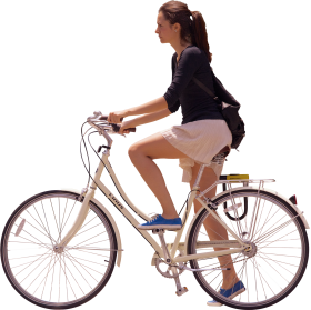 Girl Ride Bicycle PNG