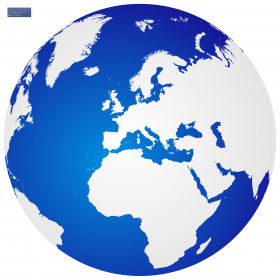 Blue and White Globe PNG