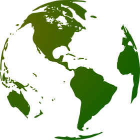 Green and White Globe PNG