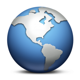 Blue and Grey Globe PNG