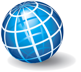 Blue Spherical Object PNG