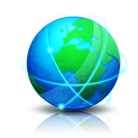 Blue and Green Globe  PNG