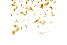 Golden Confetti with Blur PNG