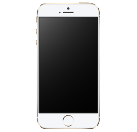 Golden IPhone 5S PNG
