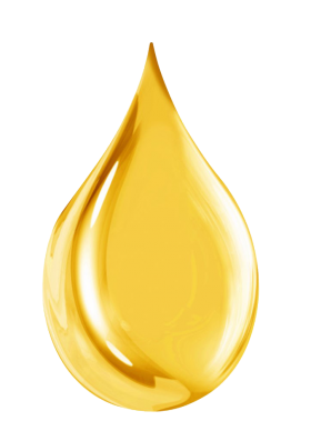 Golden Water drop PNG