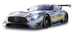 Gray Mercedes Benz Race Car PNG