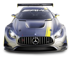 Gray Mercedes Benz Racing Car PNG