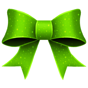 Green Bow PNG