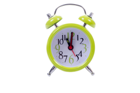 Green Cute Clock PNG