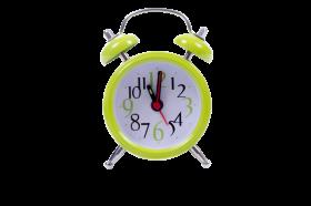 Green Cute Clock PNG