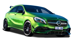 Green Mercedes Benz A Class Car PNG