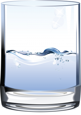Half Water Glass PNG