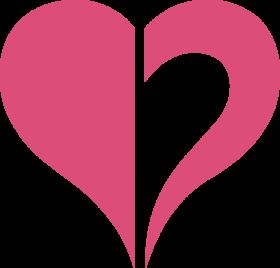 Halved Heart Shape PNG