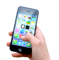 Hand Holding Black iPhone Apple PNG