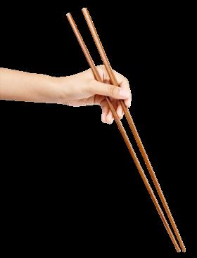 Hand holding Chopsticks PNG