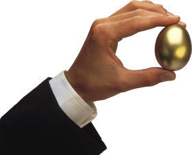 Hand Holding Golden Egg PNG