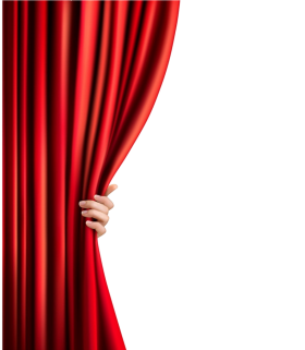 Female Hand Opening Curtain PNG