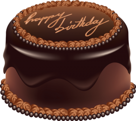Happy Birthday Chocolate Cake PNG