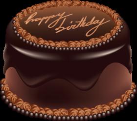 Happy Birthday Chocolate Cake PNG