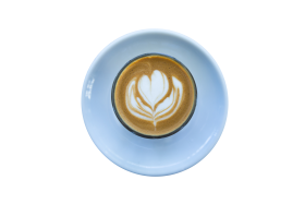 Heart Design in Coffee PNG