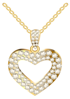 Heart Necklace for Women PNG