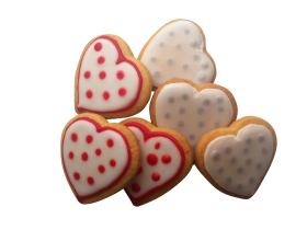 Heart Shaped Brown Cookies PNG