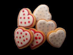 Heart Shaped Brown Cookies PNG