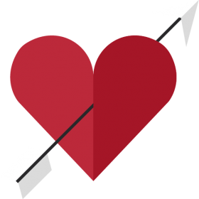 Heart with Arrow PNG