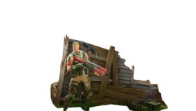 Hiding Fortnite Thumbnail Template PNG