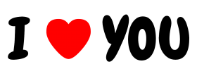 I love you / i heart you font PNG