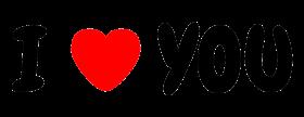 I love you / i heart you font PNG