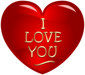 I Love You Written in Heart PNG