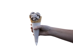 Ice Cream Cone in a hand PNG