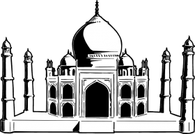 Drawing of Taj Mahal PNG