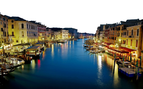 Deep Blue Sea and Lighted Buildings - Italy PNG