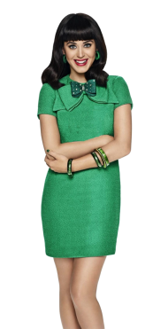 Katy Perry Green Dress PNG