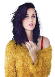 Katy Perry in a yellow dress PNG