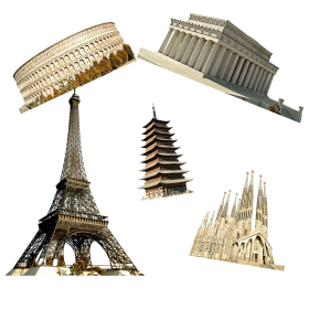 Landmark Buildings  in France PNG