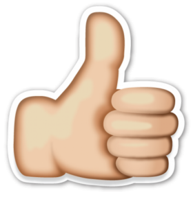 Like Emoji Thumbs up PNG