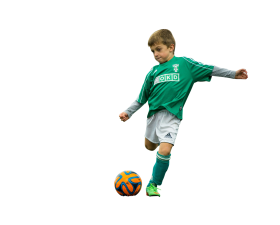 Little Boy Play With Football PNG