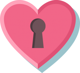 Locked Pink Heart PNG