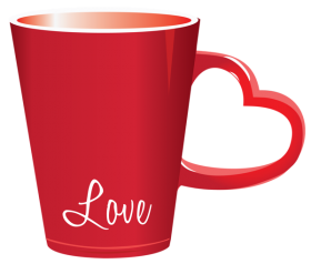 Love Cup with heart handle PNG