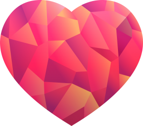 Love Heart Design PNG