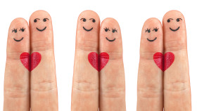 Love Heart on Fingers PNG