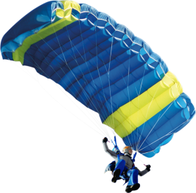 Man skydiving using parachute PNG